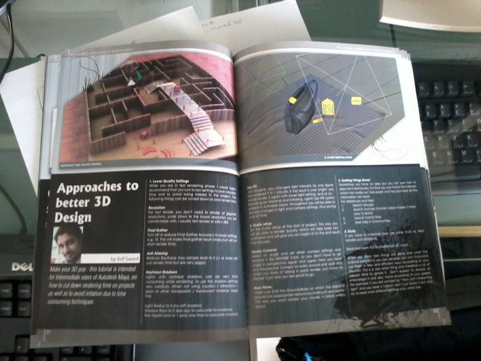 Approaches to better 3d  in Impressions Magazine by Choudry Arif Saeed