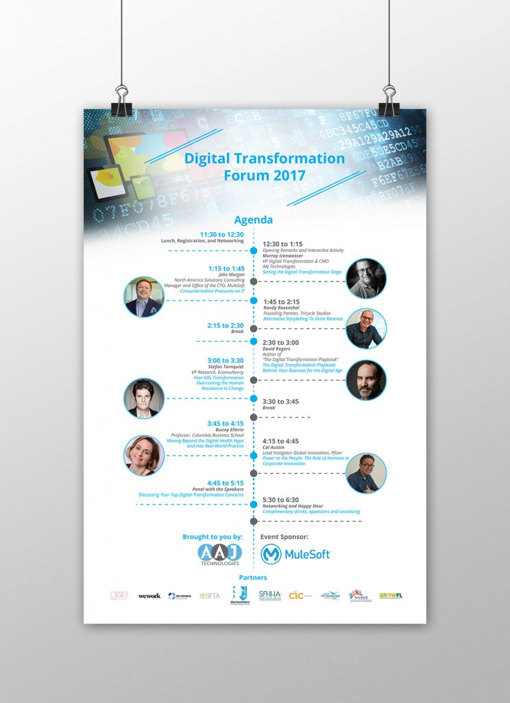 Poster design AAJ-Digital-Transformation-Forum-2017 Inoace design studio