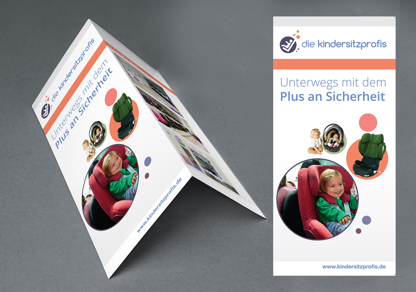 brochure flyer design by Arif inoace design studio for child seat professionals die kindersitzprofis branding