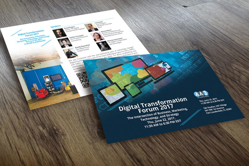 postcard design AAJ-Digital-Transformation-Forum-2017 Inoace Design Studio