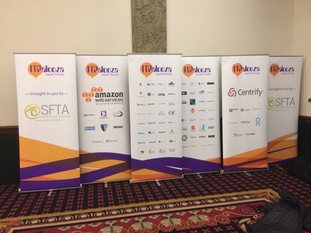 rollup banners for ITPalooza event - Fort Lauderadale